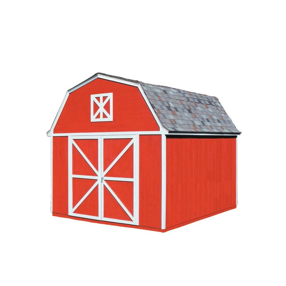 Handy Home Products Berkley 10 ft. x 14 ft. Wood Storage Building Kit with Floor