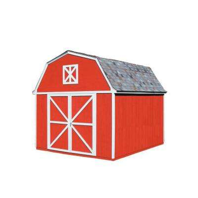 Berkley 10 ft. x 14 ft. Wood Storage Building Kit with Floor