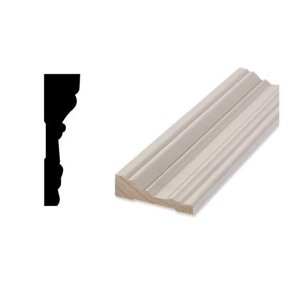 WM 1646 7/8 in. x 3-1/4 in. x 87 in. Primed Finger-Jointed Door and Window Casing