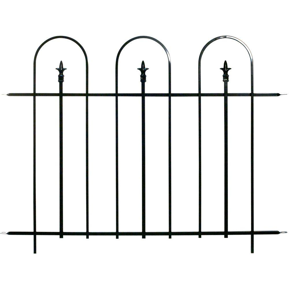 null Armory 36 in. H Steel Garden Fence Panel