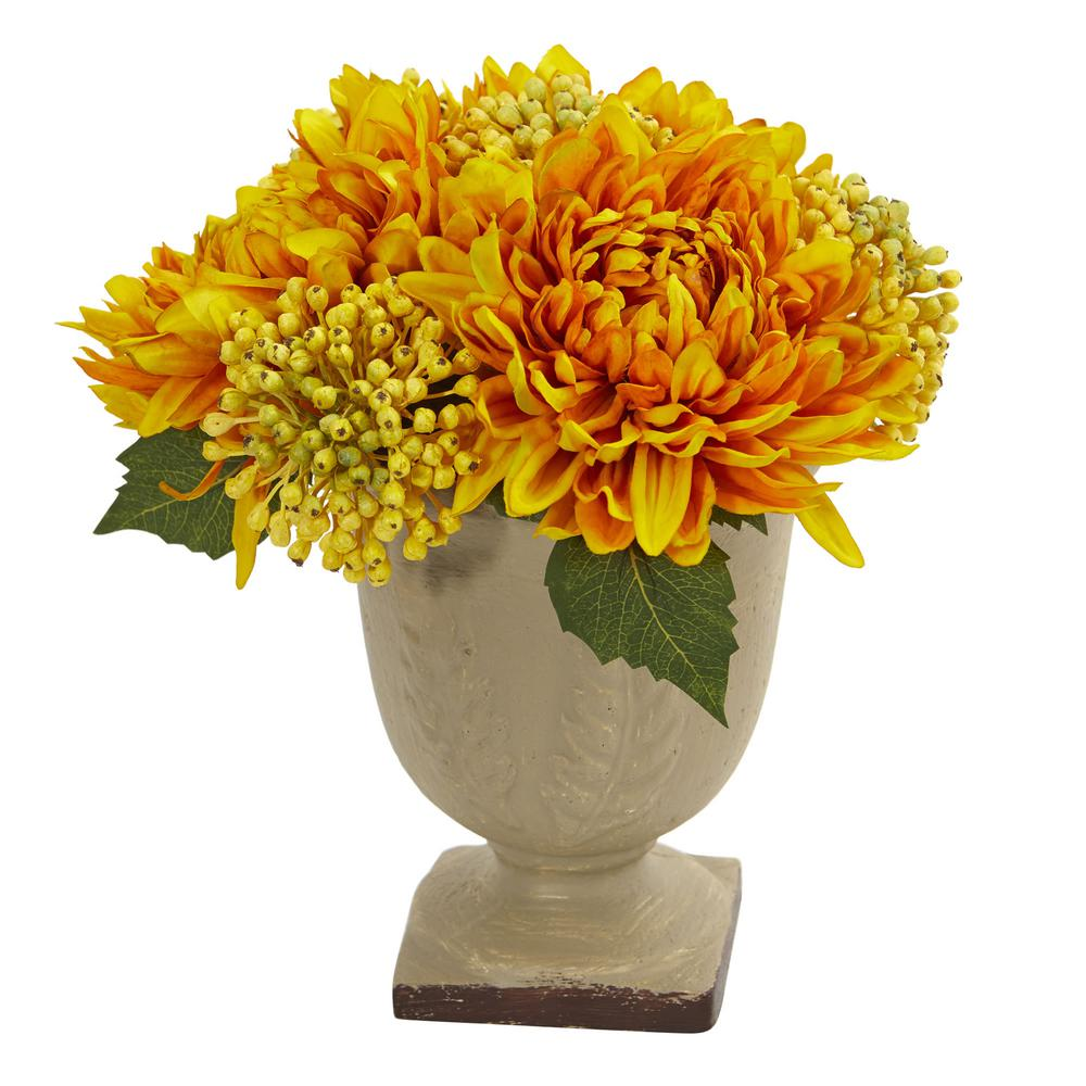 Nearly Natural 12 In Mum Artificial Arrangement 4177 Yl The Home