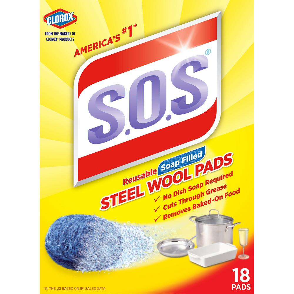 S.O.S Steel Wool Soap Scouring Pads (18-Pack)