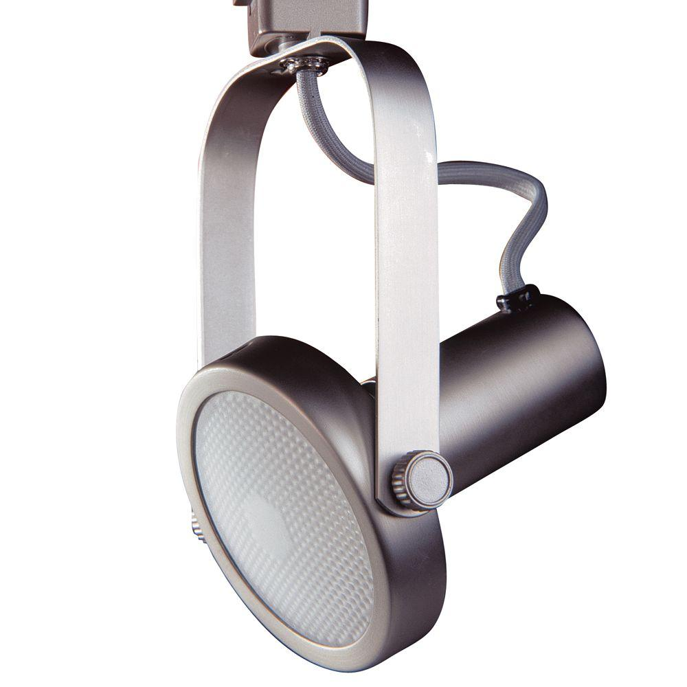 Par 30 Brushed Steel Gimbal Ring Track Lighting Fixture