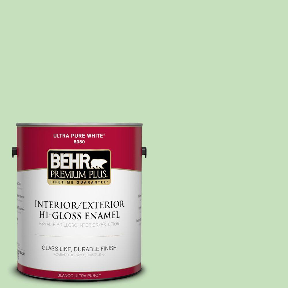 BEHR Premium Plus 1-gal. #440C-3 Rockwood Jade Hi-Gloss Enamel Interior/Exterior Paint