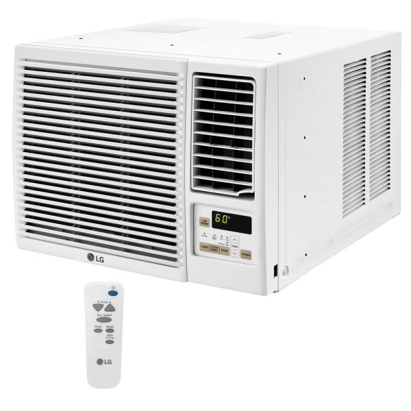 12,000 BTU 230/208-Volt Window Air Conditioner with Cool, Heat and Remote in White