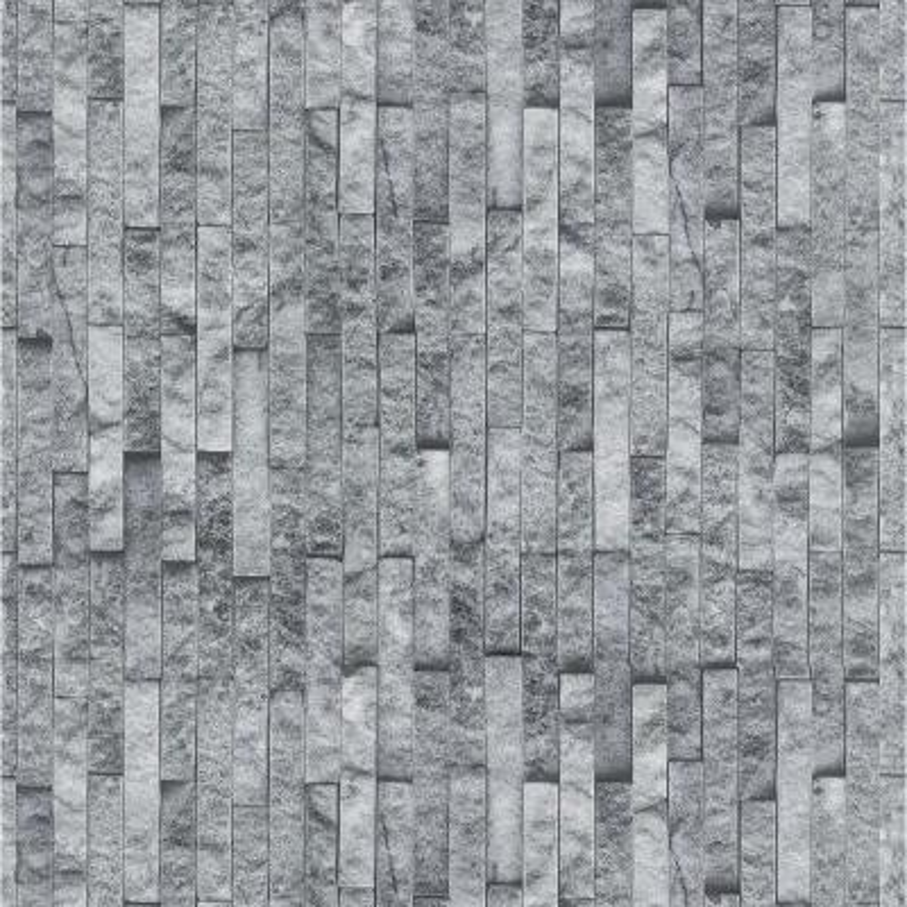 Florence Smoke Spaccato Grey Wallpaper Sample