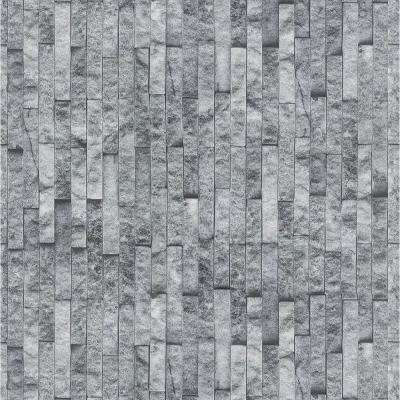 Florence Smoke Brick Spaccato Peel and Stick 3D Effect Self Adhesive DIY Wallpaper Sample