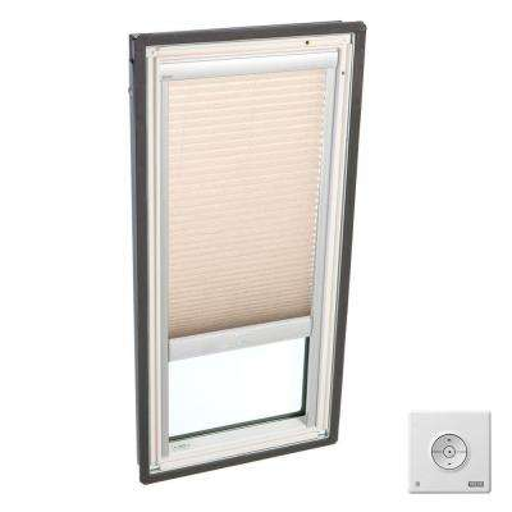Solar Powered Light Filtering Lovely Latte Skylight Blinds for FS C01 Models