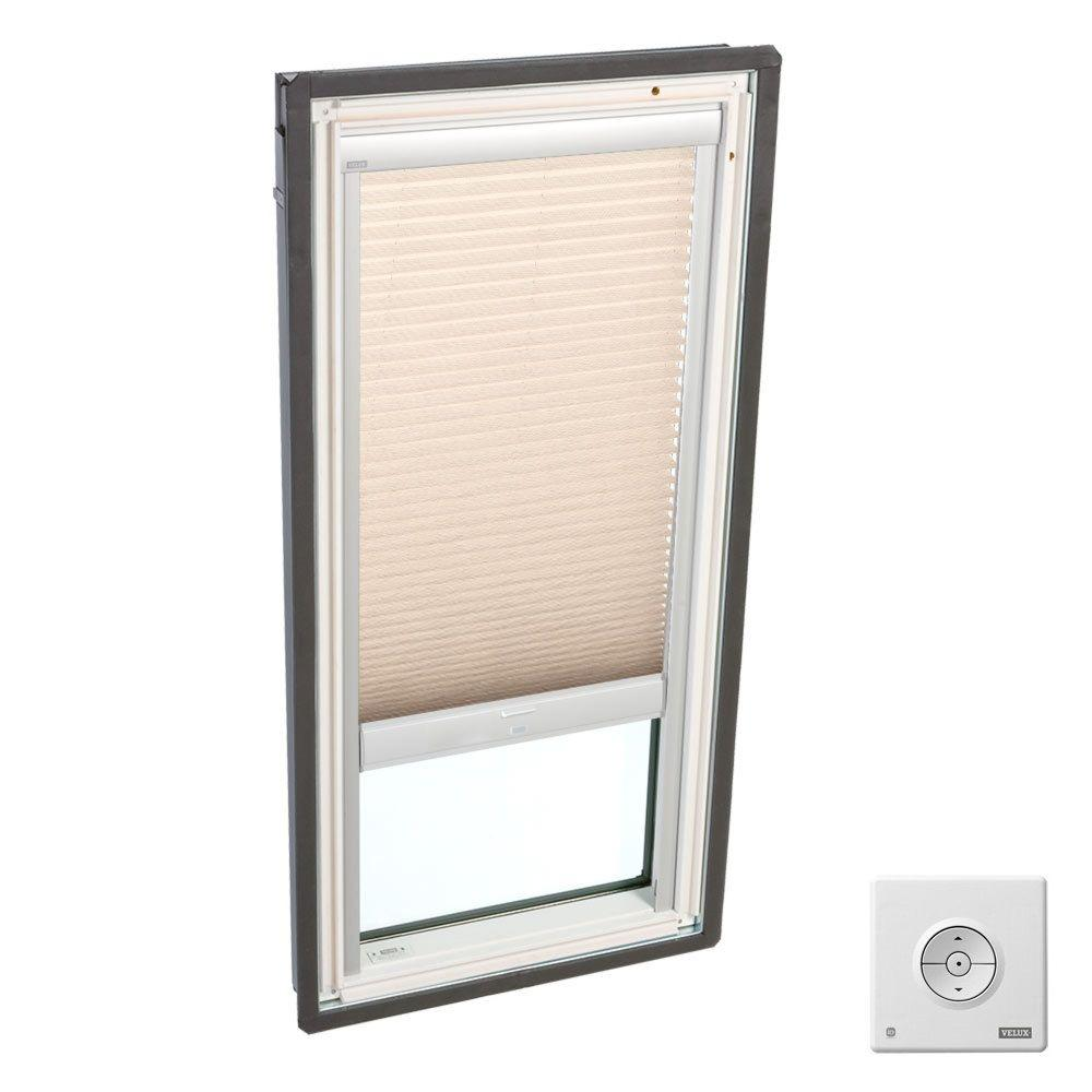 Lovely Latte Solar Powered Light Filtering Skylight Blinds for FS M04