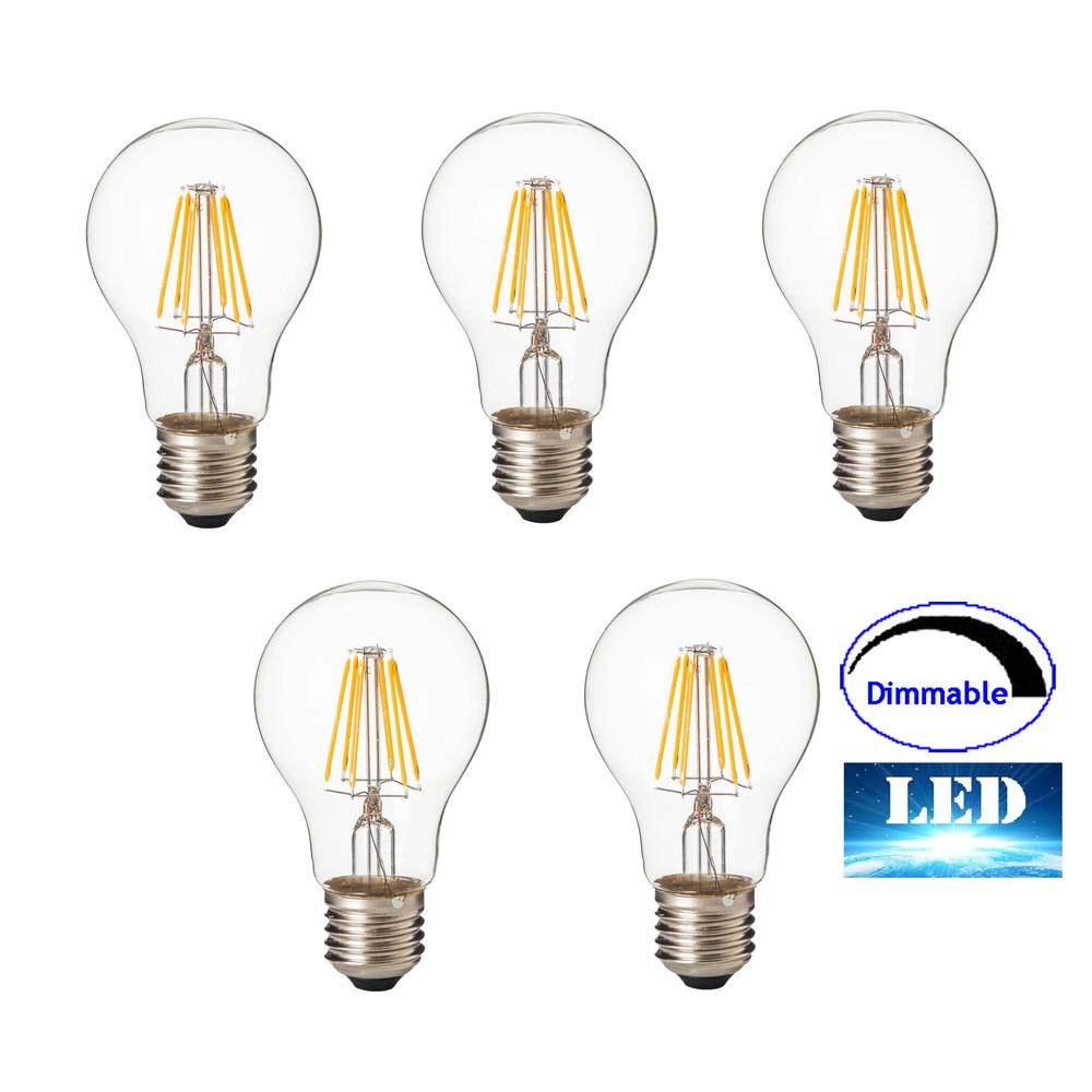 separation shoes 48ee0 929f1 ARTIVA 100-Watt Equivalent E26 A21 Dimmable Replacement LED Light Bulb,  Warm White (Set of 5)