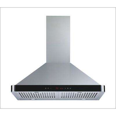 30 in. Convertible Kitchen Wall Mount Range Hood in Stainless Steel with LED Lights Touch Control and Baffle Filters
