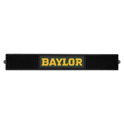 NCAA- 3.25 in. x 24 in. Black Baylor University Drink Mat