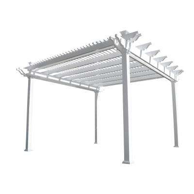 Largo 14 ft. x 14 ft. White Double Beam Vinyl Pergola
