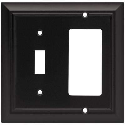 Architectural Decorative Switch and Rocker Switch Plate, Flat Black