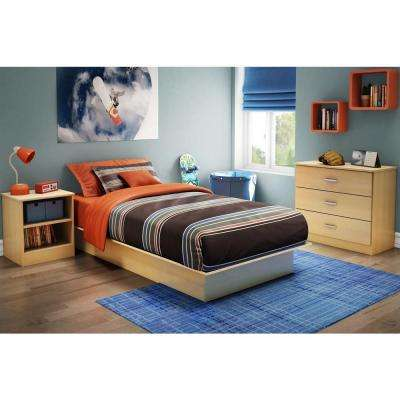 Libra Twin-Size Platform Bed in Natural Maple