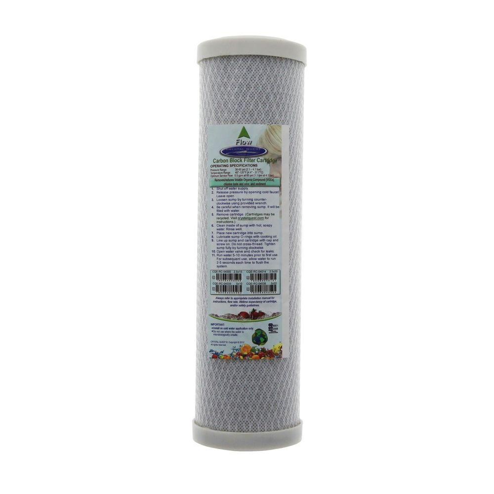 9-3/4 in. x 2-5/8 in. Carbon Block Water Filter Cartridge