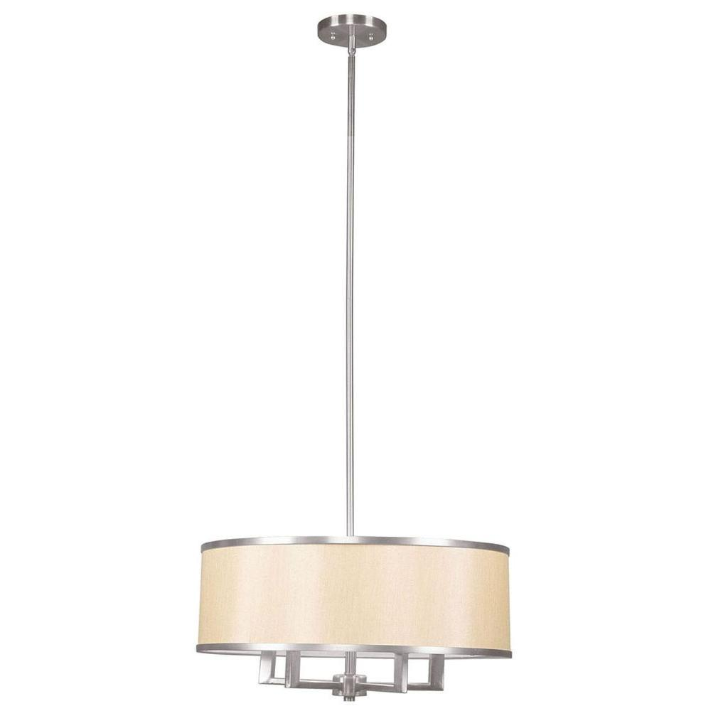 Livex Lighting Tania 4-Light Brushed Nickel Chandelier