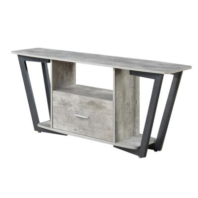 Graystone Gray and Black 60 in. TV Stand