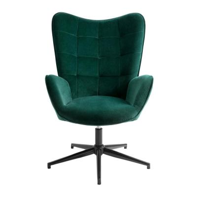 Swivel Dark Green Arm Chair Wingback Balloon Chair