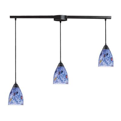 Classico 3-Light Dark Rust Ceiling Mount Pendant