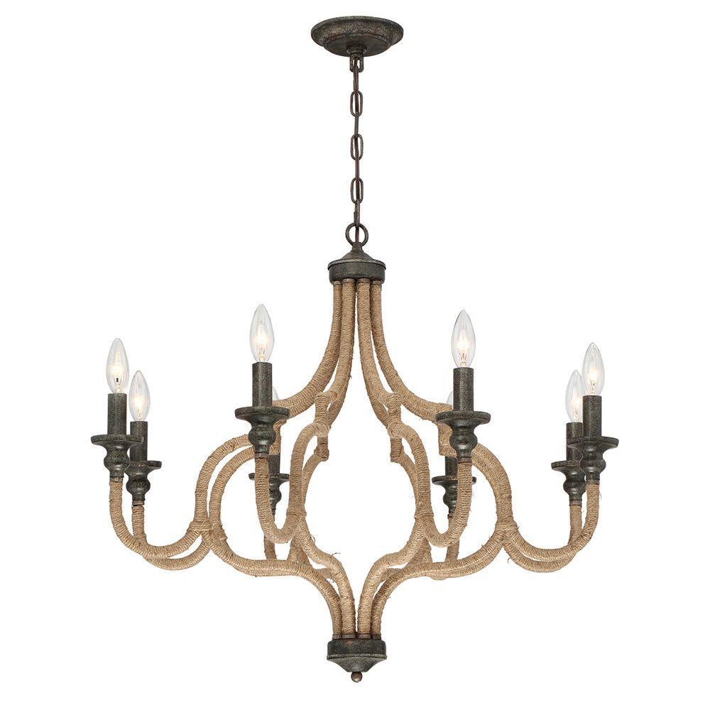 Corda Collection 8-Light Bronze Chandelier