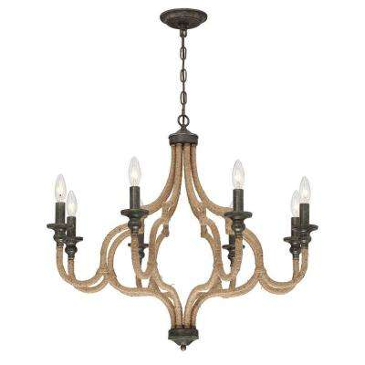 Corda Collection 8-Light Bronze Chandelier