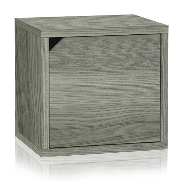 13 in. H x 13 in. W x 11 in. D White Recycled Materials 1-Cube Storage Organizer