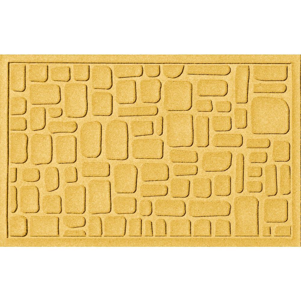 Stone Path Yellow 24 in. x 36 in. Polypropylene Door Mat
