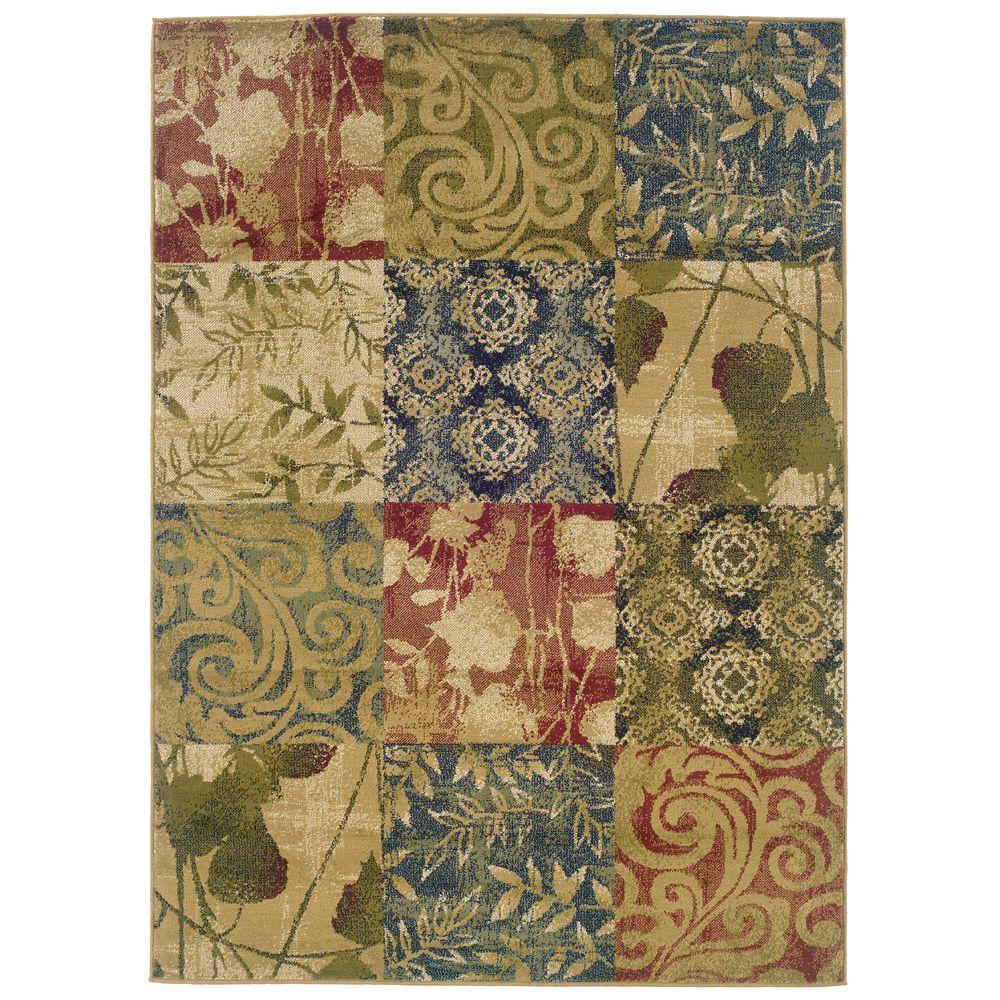 null Evanston Meadow Multi 7 ft. 10 in. x 10 ft. Area Rug
