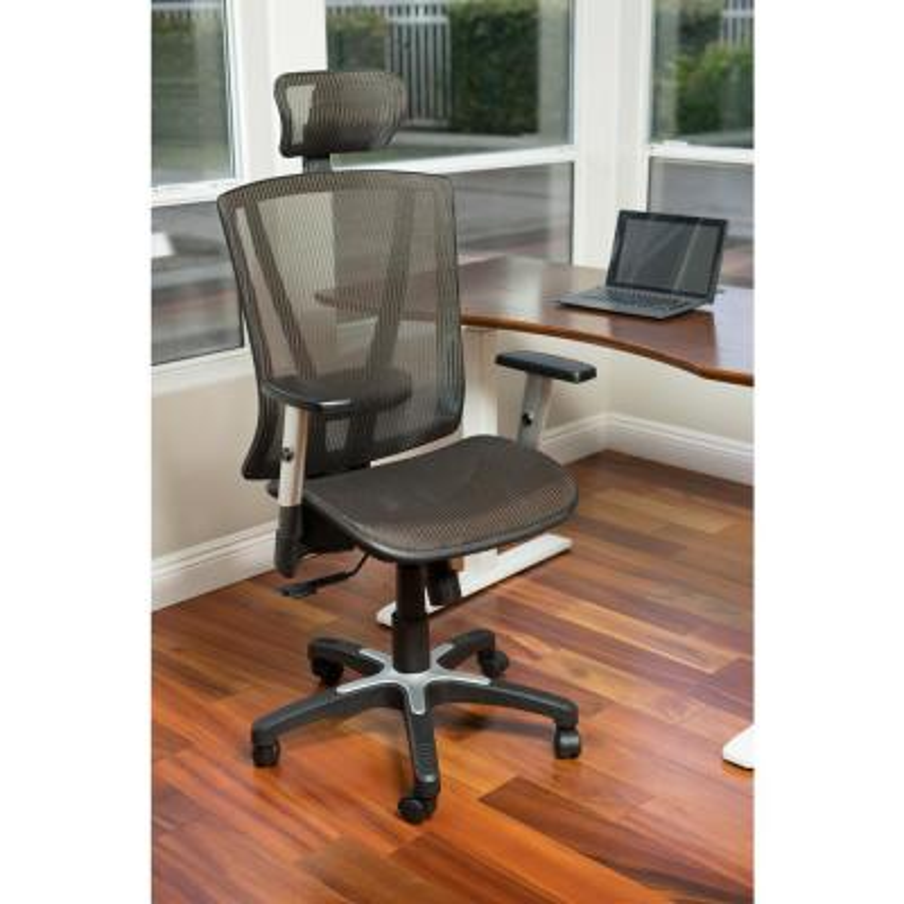 Brown Mesh Office Chair