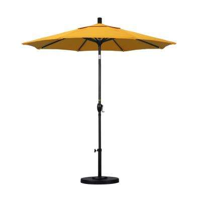 7-1/2 ft. Fiberglass Push Tilt Patio Umbrella in Yellow Pacifica