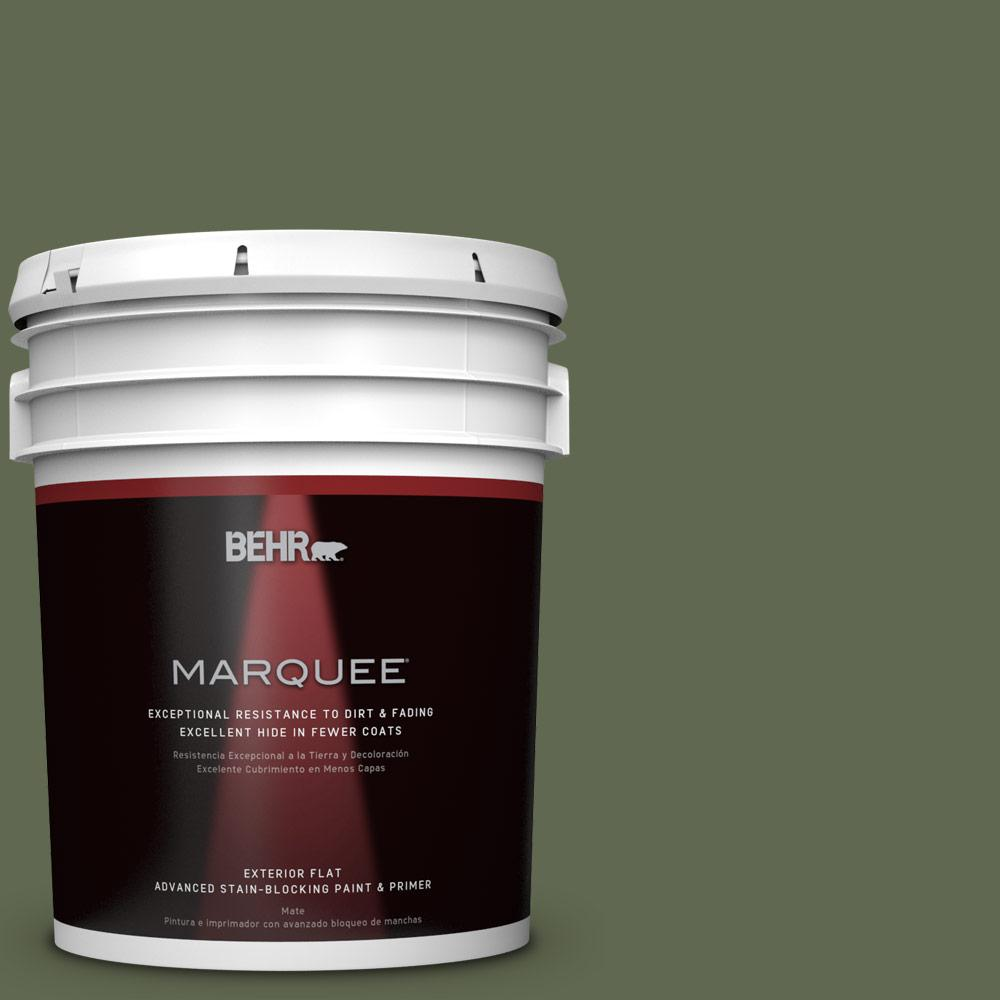 BEHR MARQUEE 5-gal. #ICC-87 Rosemary Sprig Flat Exterior Paint