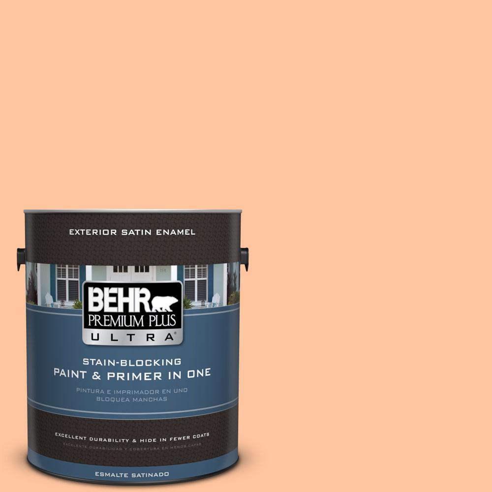 BEHR Premium Plus Ultra 1-gal. #P210-3 Gumdrops Satin Enamel Exterior Paint