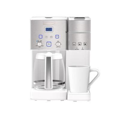Coffee Center 12-Cup White and Stainless Coffee Maker and Single-Serve Brewer