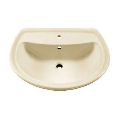 Cadet Pedestal Sink Basin with Center Faucet Hole Only in Linen