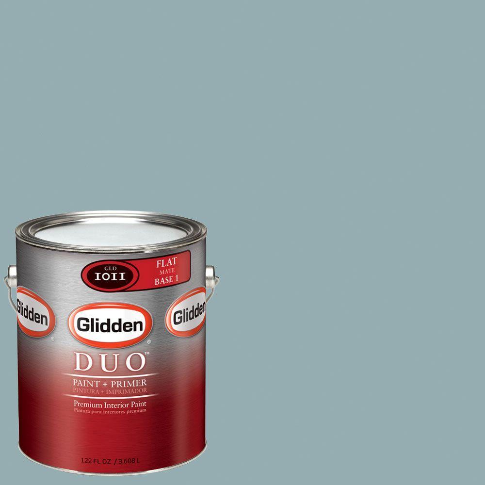 Glidden DUO Martha Stewart Living 1-gal. #MSL127-01F Geyser Flat Interior Paint with Primer - DISCONTINUED