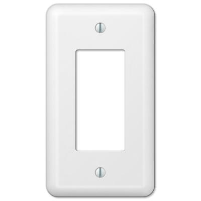 Declan 1 Gang Rocker Steel Wall Plate - White