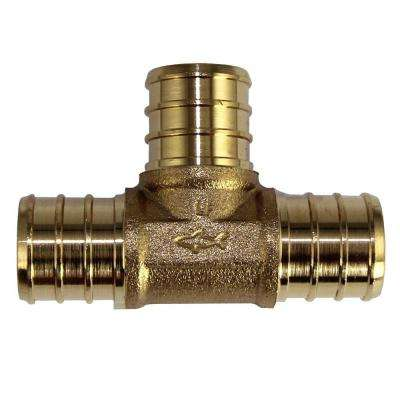 3/4 in. Brass PEX Barb Tee (10-Pack)