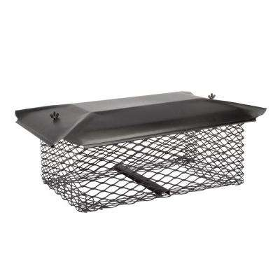 13 in. x 13 in. Chimney Cap in Black Galvanized Steel