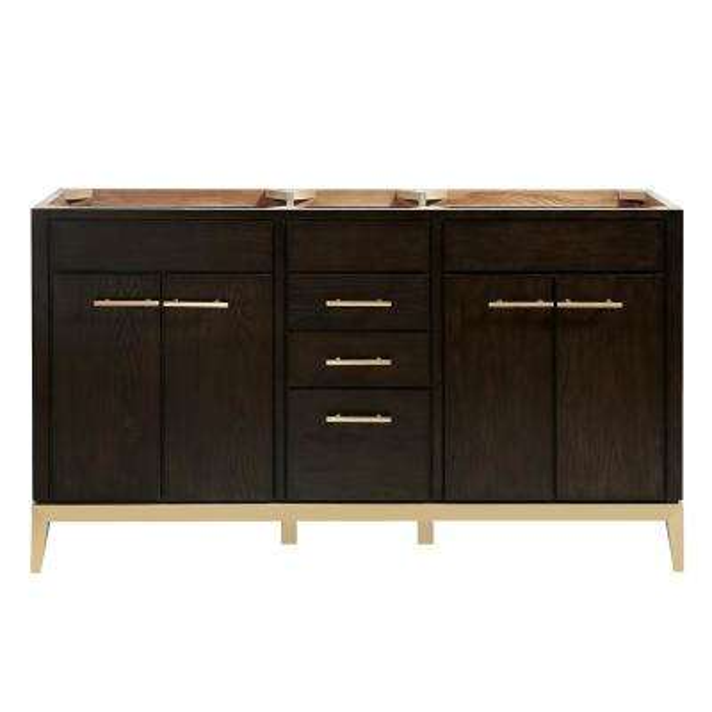 Hepburn 60 in. W x 21.5 in. D x 34 in. H Bath Vanity Cabinet Only in Dark Chocolate