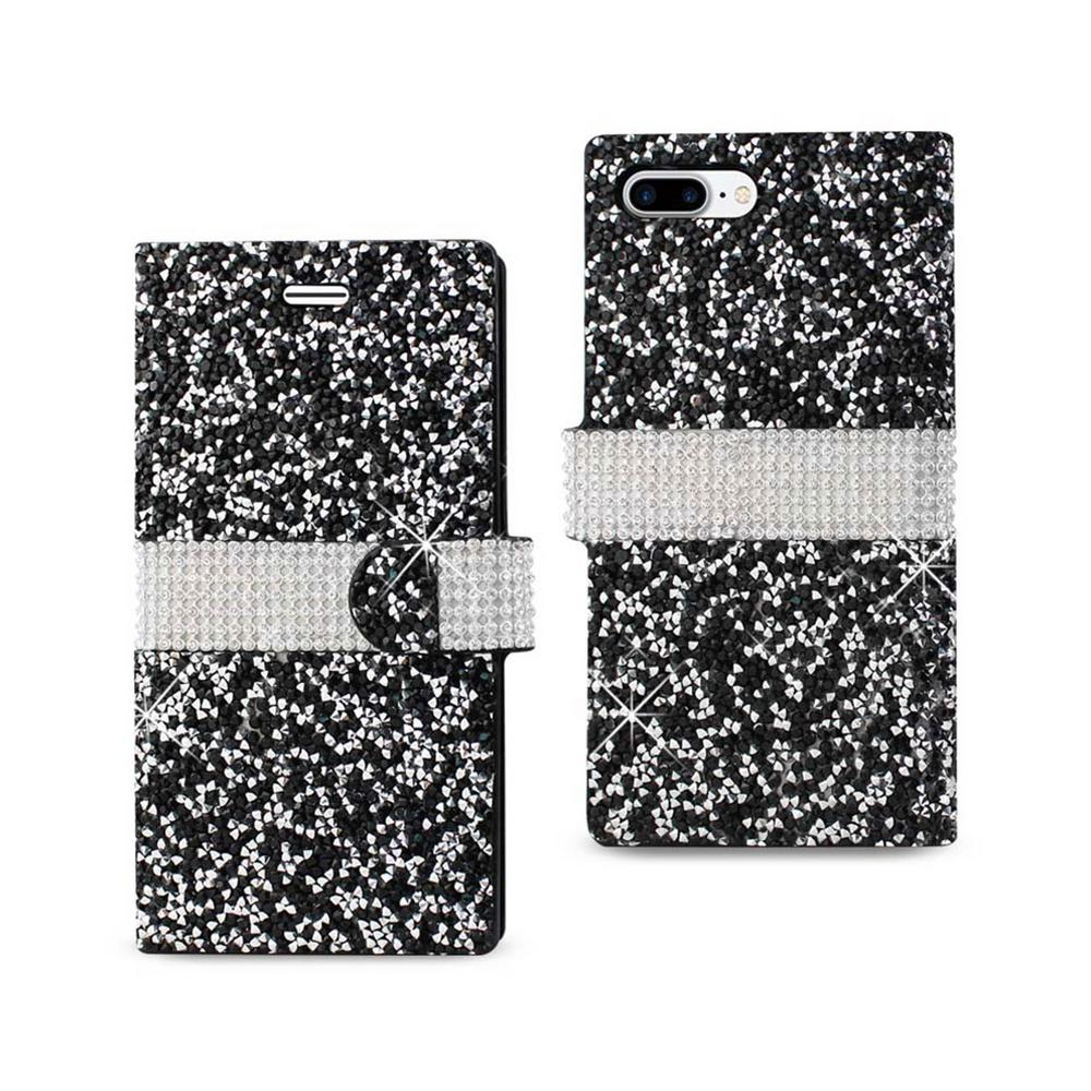 iPhone 7 Plus Rhinestone Case in Black