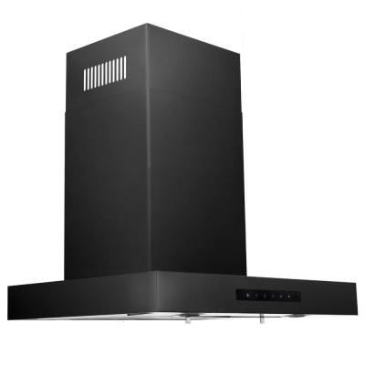 ZLINE 24 in. Wall Mount Range Hood in Black Stainless Steel (BSKEN-24)