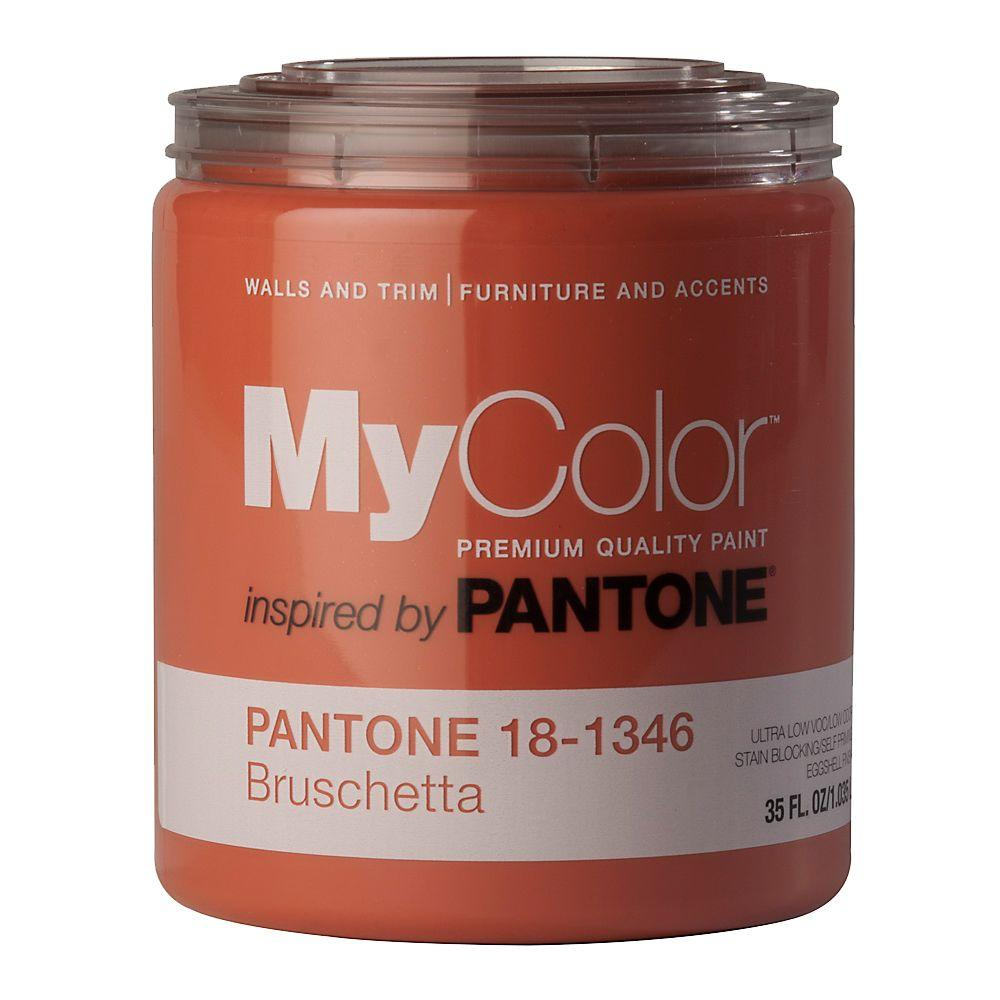 MyColor inspired by PANTONE 18-1346 Eggshell 35-oz. Bruschetta Self Priming Paint-DISCONTINUED