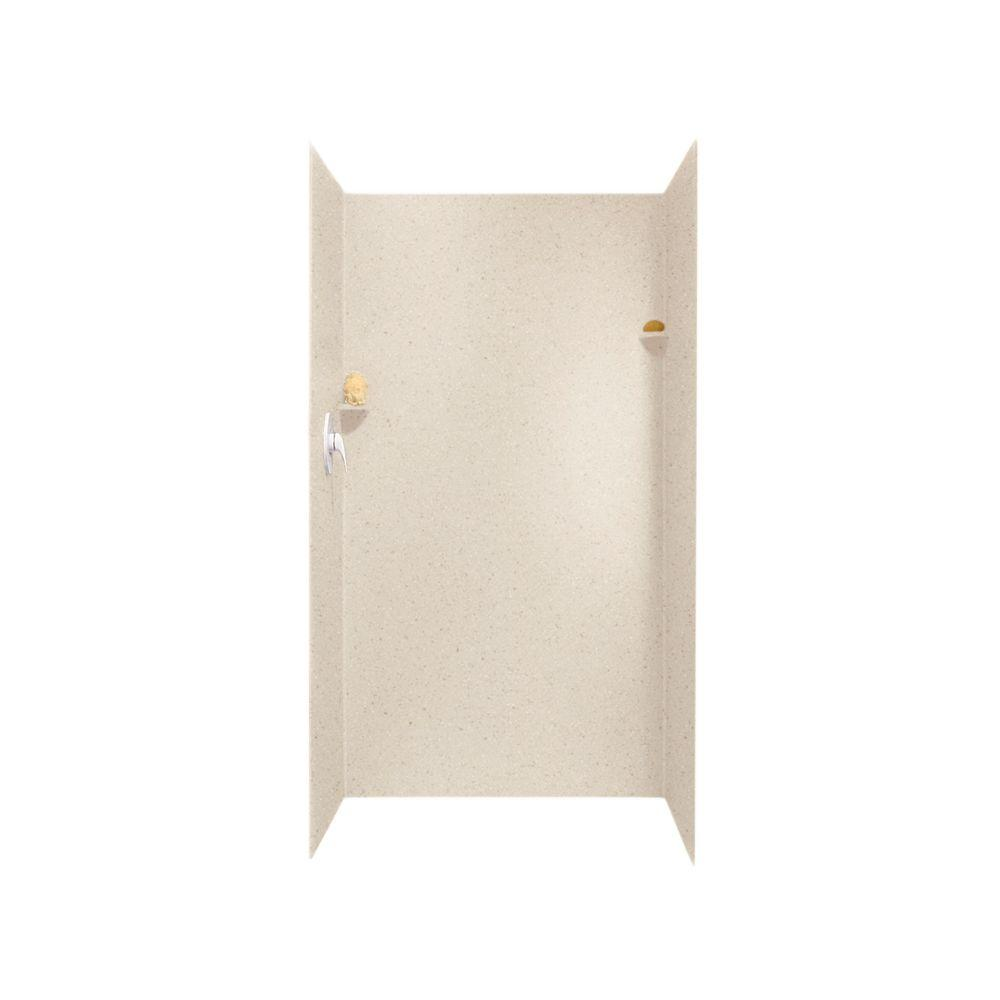 Wonderful 3 Piece Easy Up Adhesive Alcove Shower Surround In Tahiti  Sand SK 363672 051   The Home Depot