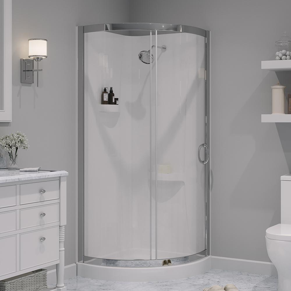 9e1fd773a61 OVE Decors. Breeze 31 in. x 31 in. x 76 in. Shower Kit with Reversible  Sliding Door and Shower Base