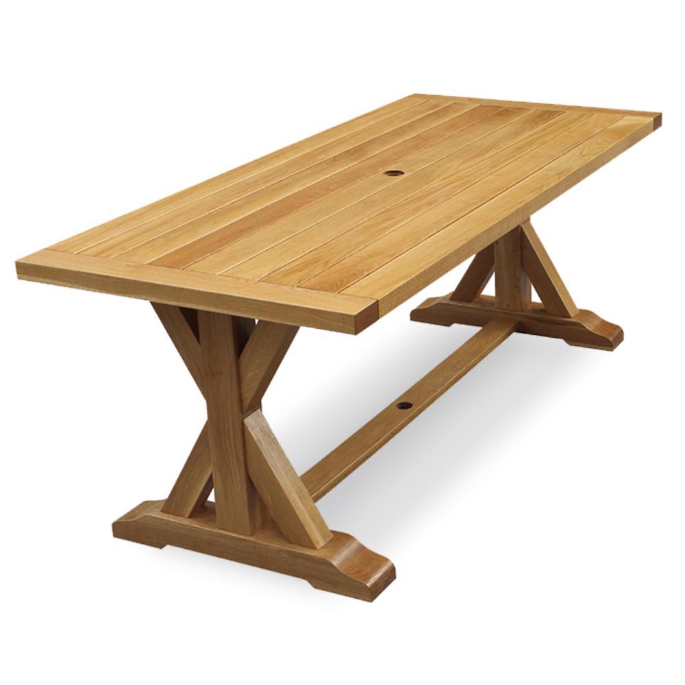 Baytown Rectangular Wood Outdoor Dining Table