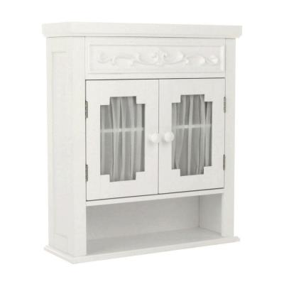 Drapery 21 in. W x 24-1/10 in. H x 7 in. D Bathroom Storage Wall Cabinet in White