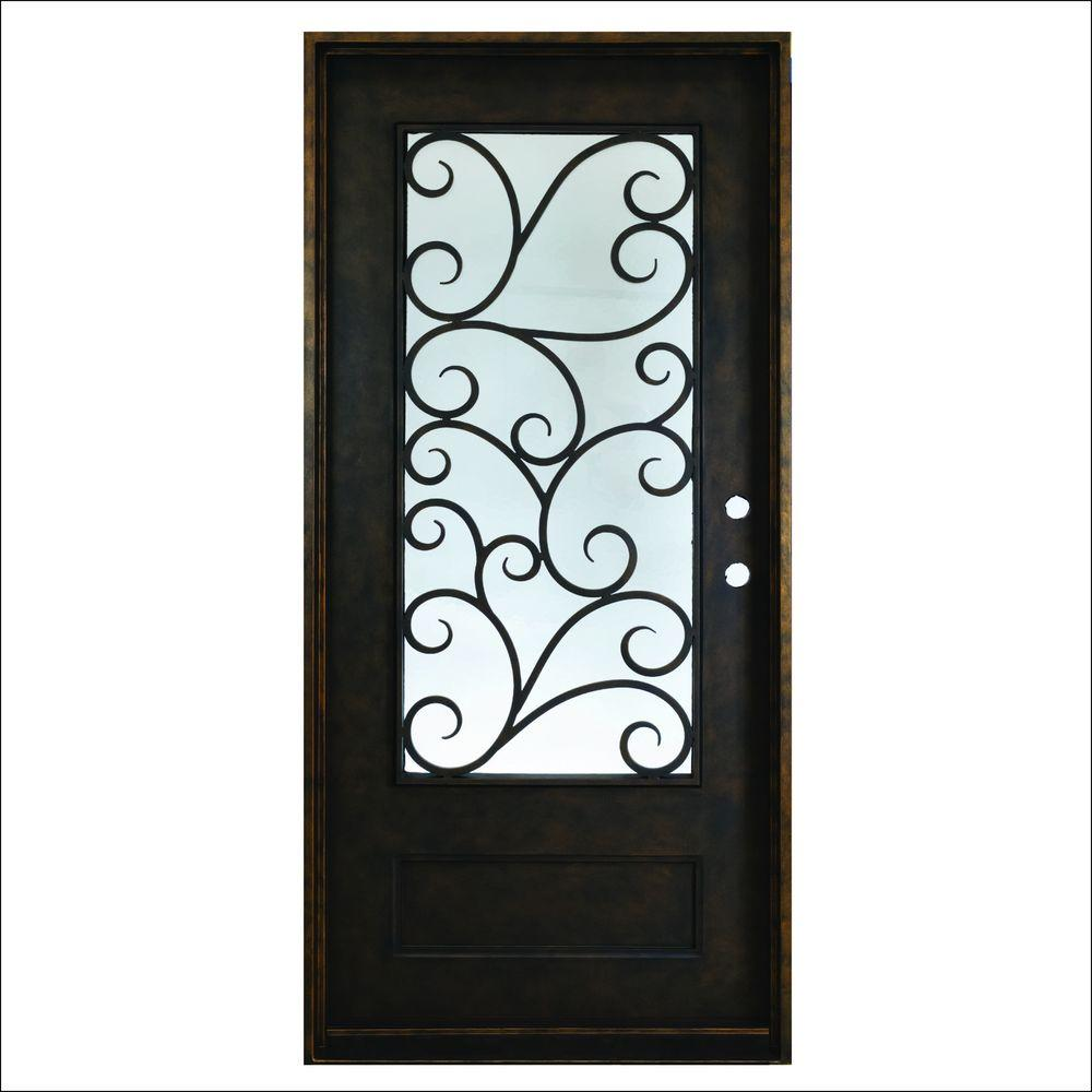 Decorative Steel Doors : Steves sons in cascade antique rubbed