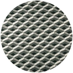Rizzy Home Country Gray 8 ft. x 8 ft. Round Area Rug by Rizzy Home