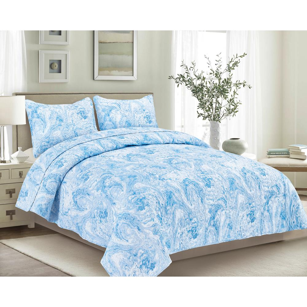 Carrera 2-Piece Water Twin Quilt Set